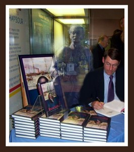Author, John G. Langley at launch of Steam Lion,Maritime Museum of the Atlantic, October 6, 2006