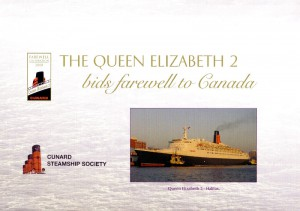 Reverse side of IOM commemorative cover 'QE2 Farewell To Canada'