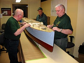 'Franconia Project' at Maritime Museum of Atlantic with modelersJohn Green, Bill Moore and Gerry Wright.