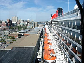 QM2 Dockside at Pier 21, Halifax